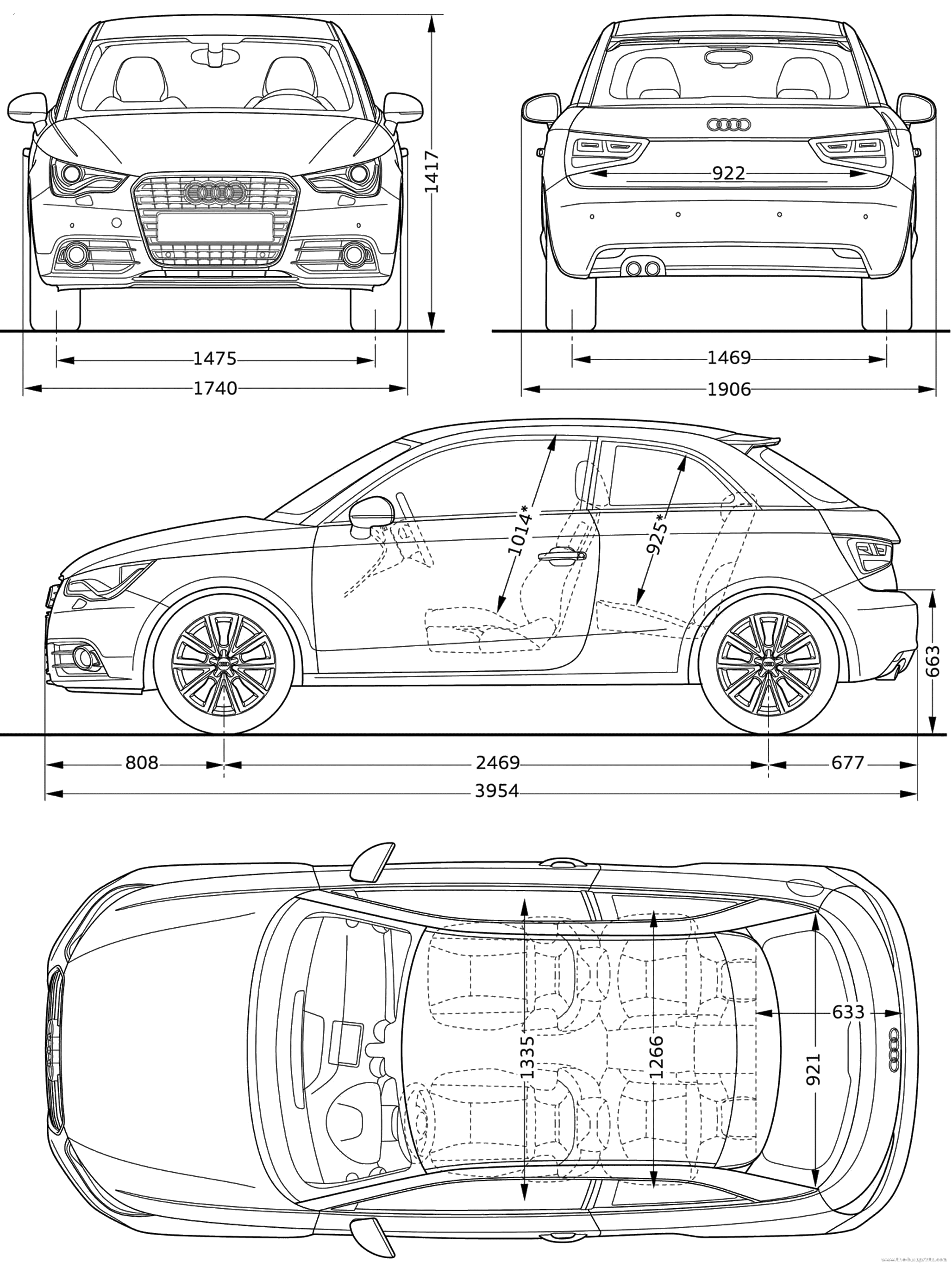 blueprints cars audi audi a1 2010. Black Bedroom Furniture Sets. Home Design Ideas