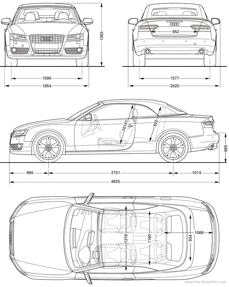 The-Blueprints.com - Blueprints > Cars > Audi > Audi A5 Cabriolet ...