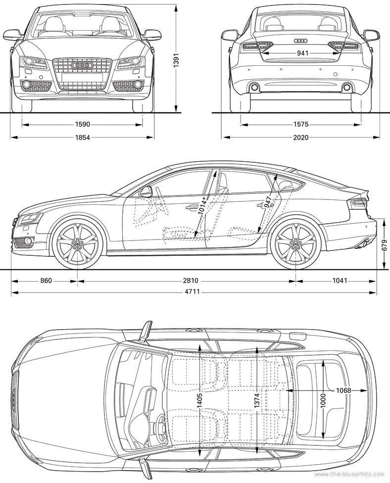 blueprints > cars > audi > audi a5 sportback (2010)