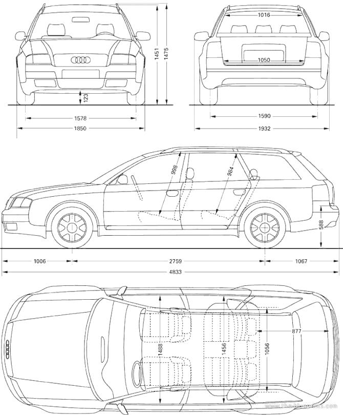 The Blueprints Com Blueprints Gt Cars Gt Audi Gt Audi A6 Avant