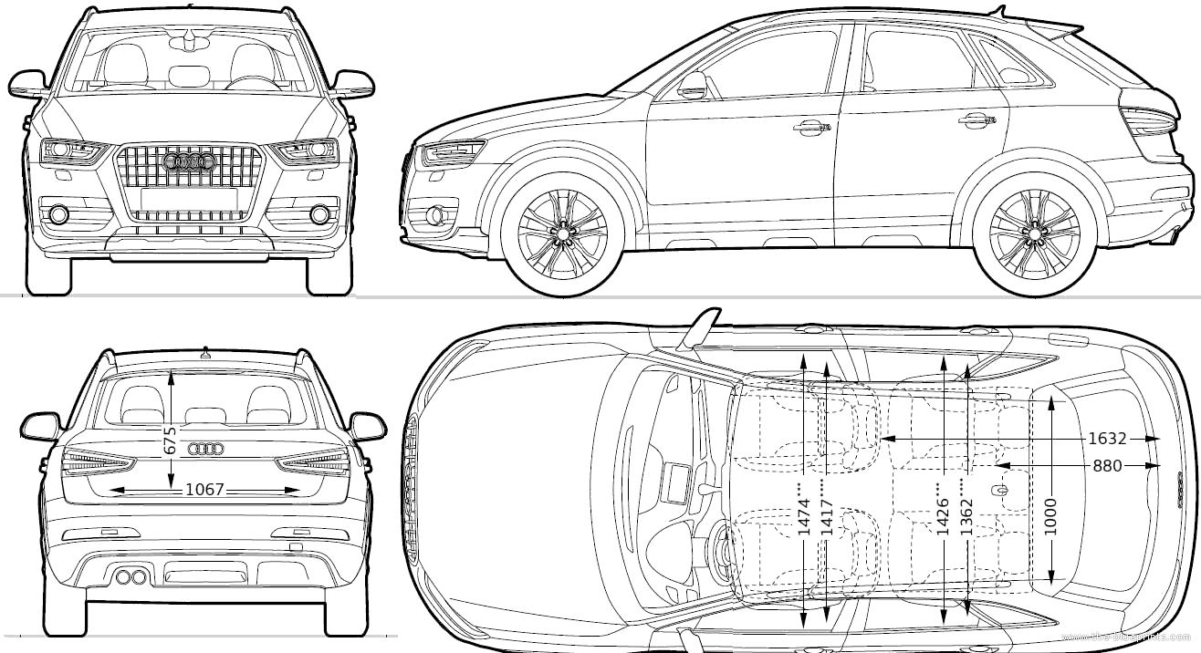blueprints cars audi audi q3 2011. Black Bedroom Furniture Sets. Home Design Ideas