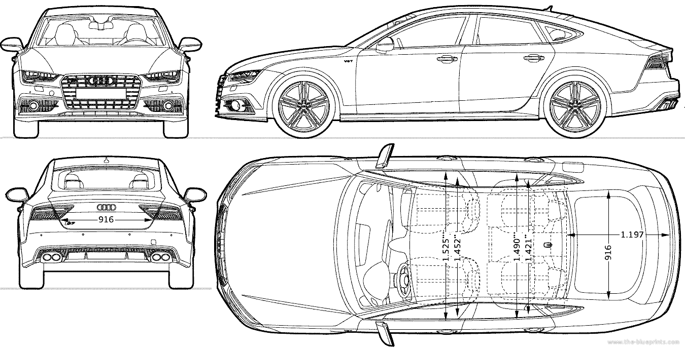 car blueprints audi a7 sportback blueprints vector