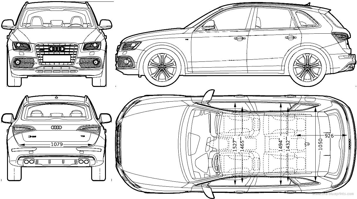 Blueprints  U0026gt  Cars  U0026gt  Audi  U0026gt  Audi Sq5  2013