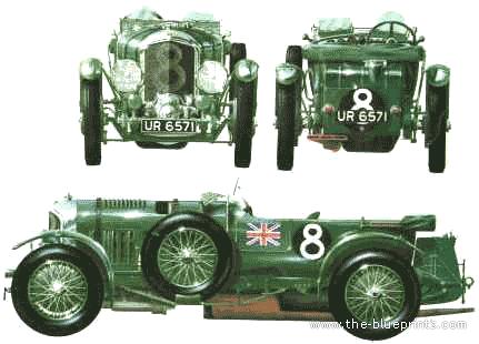 Blueprints > Cars > Bentley > Bentley 4 5 litre Supercharged (1930)