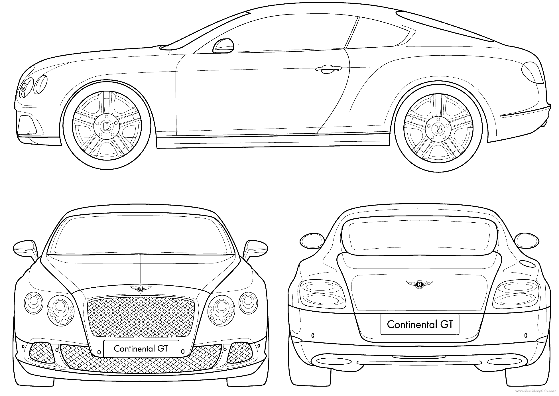 Blueprints cars bentley bentley continental gt coupe 2011 bentley continental gt coupe 2011 malvernweather Gallery