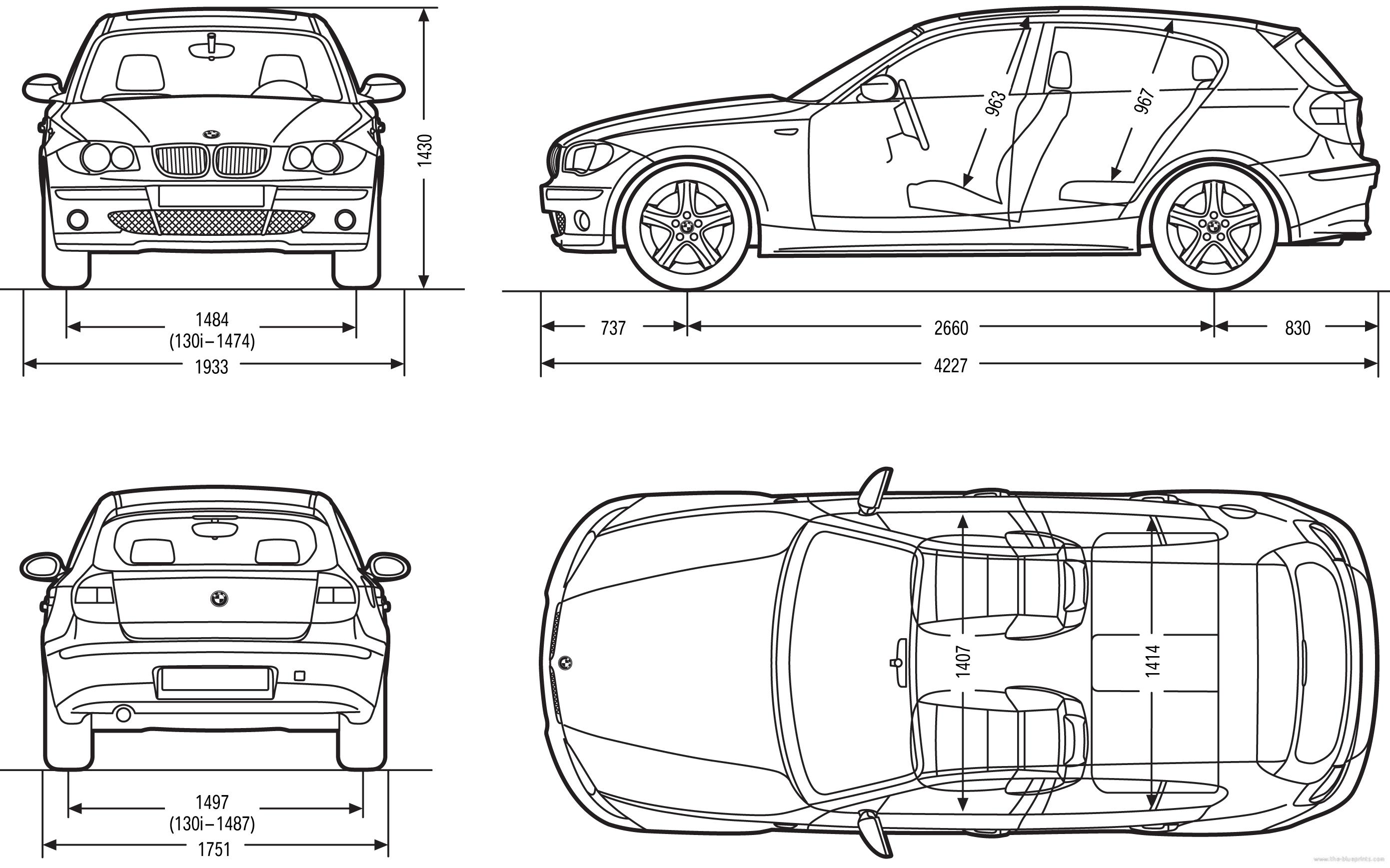 The blueprints com vector drawing opel astra k 5 door - Bmw 1 Series 5 Door E87 2007 Sc 1 St The Blueprints Com