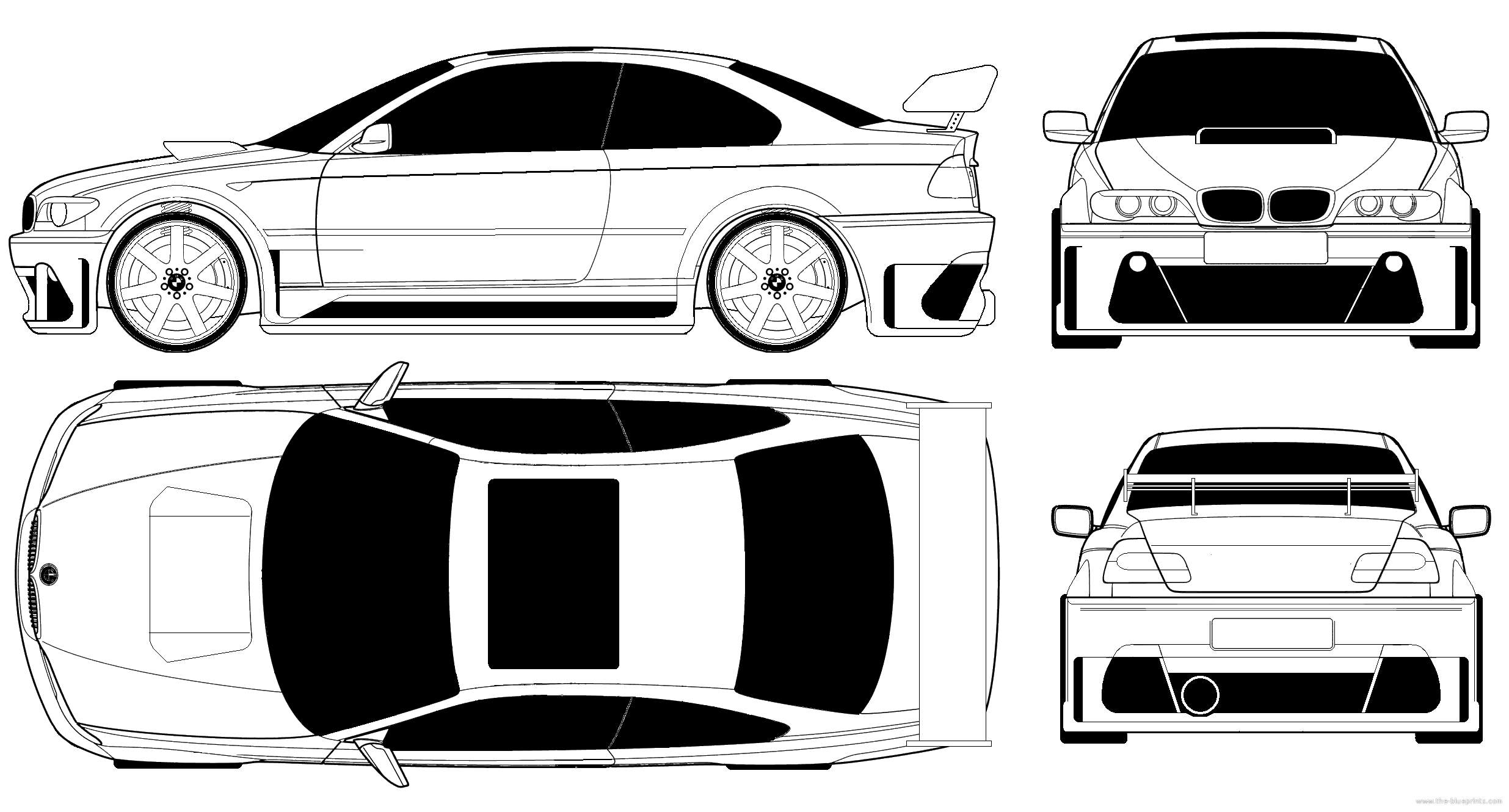 Blueprints cars bmw bmw 3 series coupe e46 tuned bmw 3 series coupe e46 tuned malvernweather Image collections