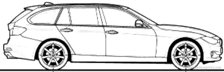 blueprints cars bmw bmw 3 series touring 2013. Black Bedroom Furniture Sets. Home Design Ideas