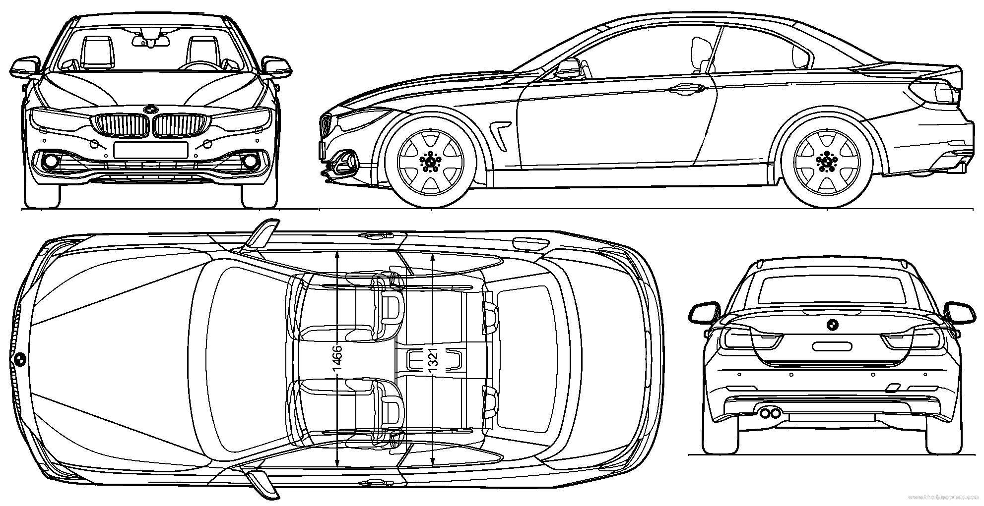 bmw car blueprint