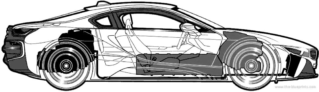 Blueprints Cars Bmw Bmw I8 2014