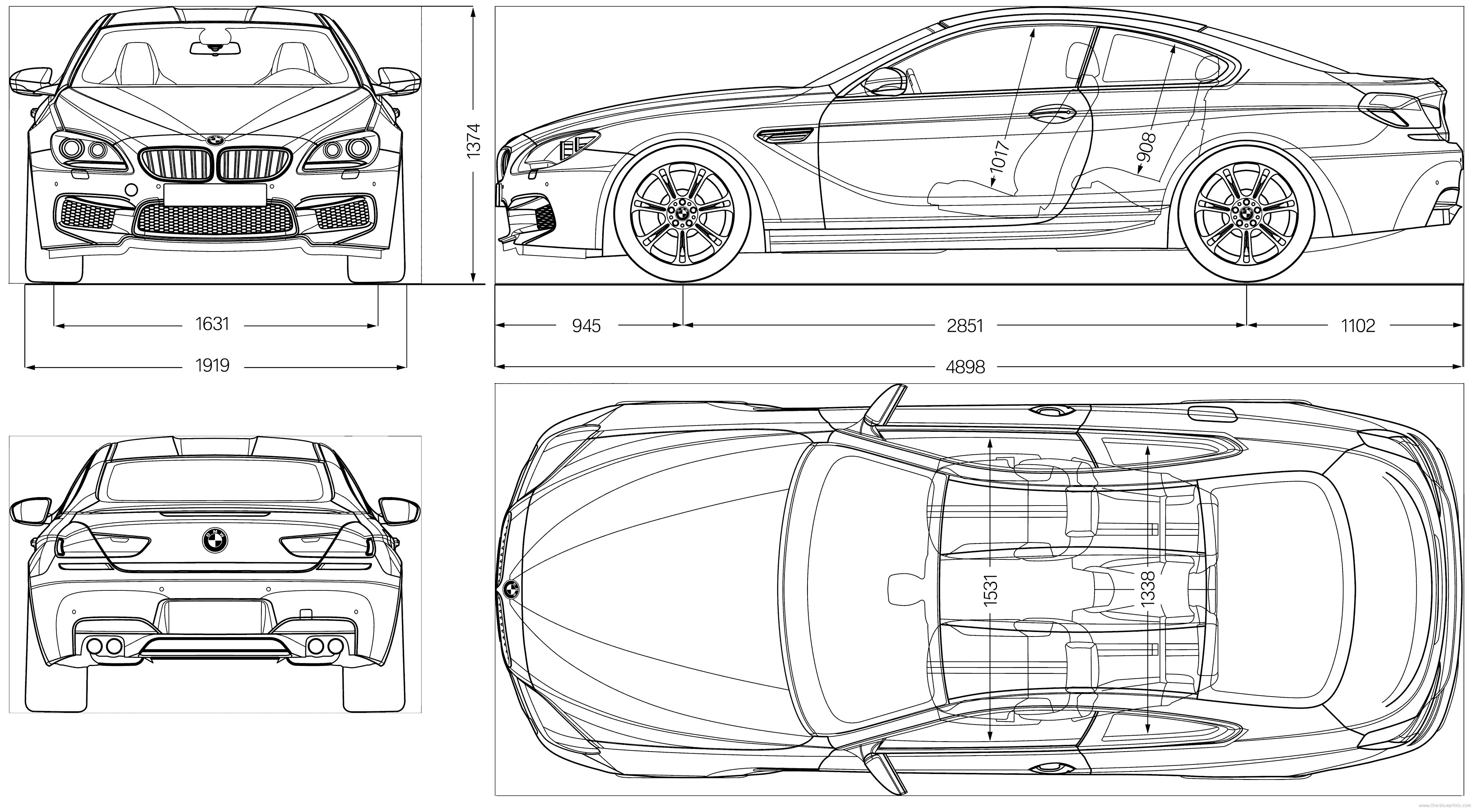 Blueprints cars bmw bmw m6 coupe f12 2012 bmw m6 coupe f12 2012 malvernweather Image collections