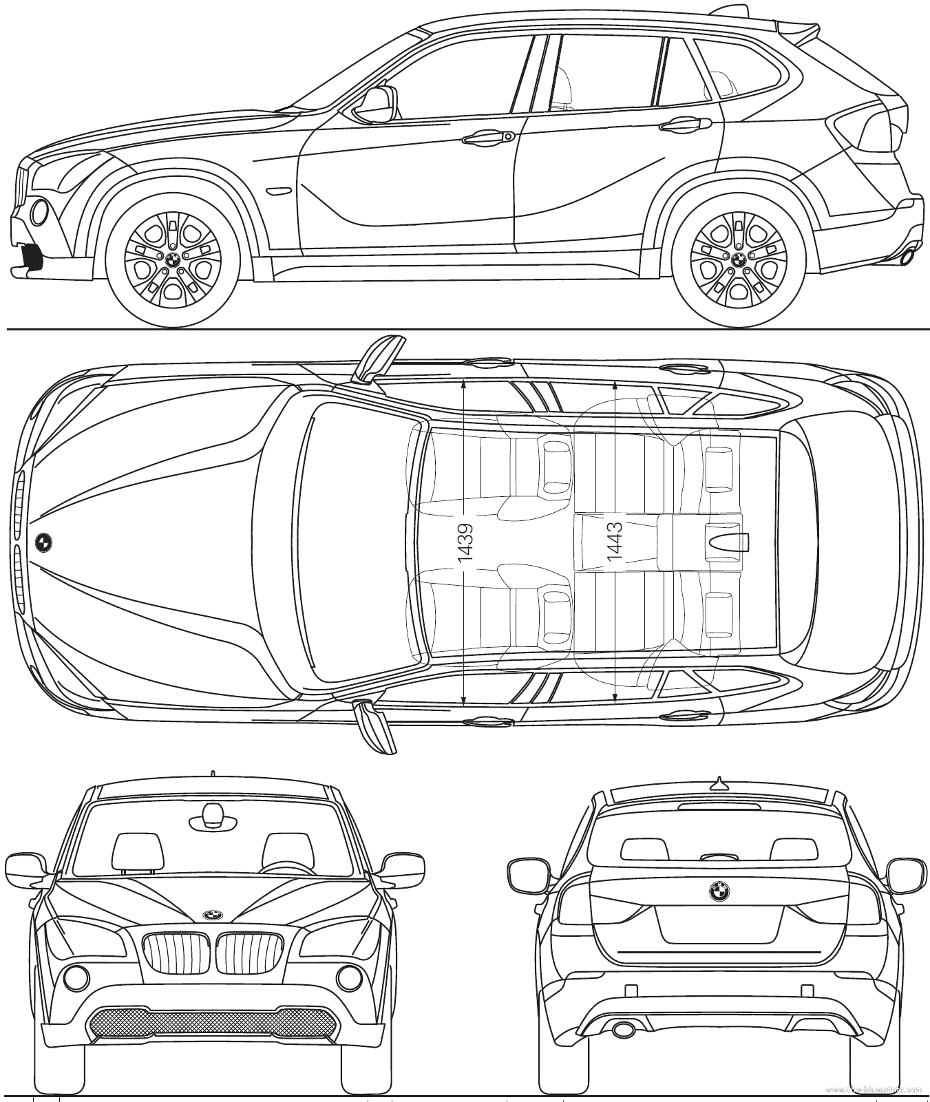 the blueprints cars bmw bmw x1 e84. Black Bedroom Furniture Sets. Home Design Ideas