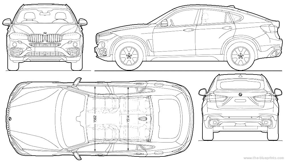 the blueprints cars bmw bmw x6 f16 2015. Black Bedroom Furniture Sets. Home Design Ideas