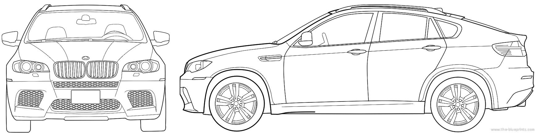 Blueprints Cars Bmw Bmw X6 M E72
