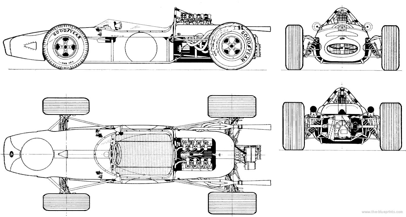 com Blueprints gt; Cars gt; Brabham gt; Brabham Ford BT19 F1 GP 1966 ...