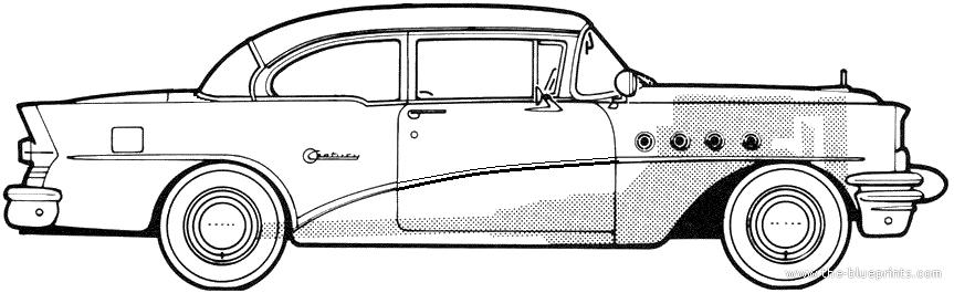 The blueprints cars buick buick for 1955 buick century 2 door