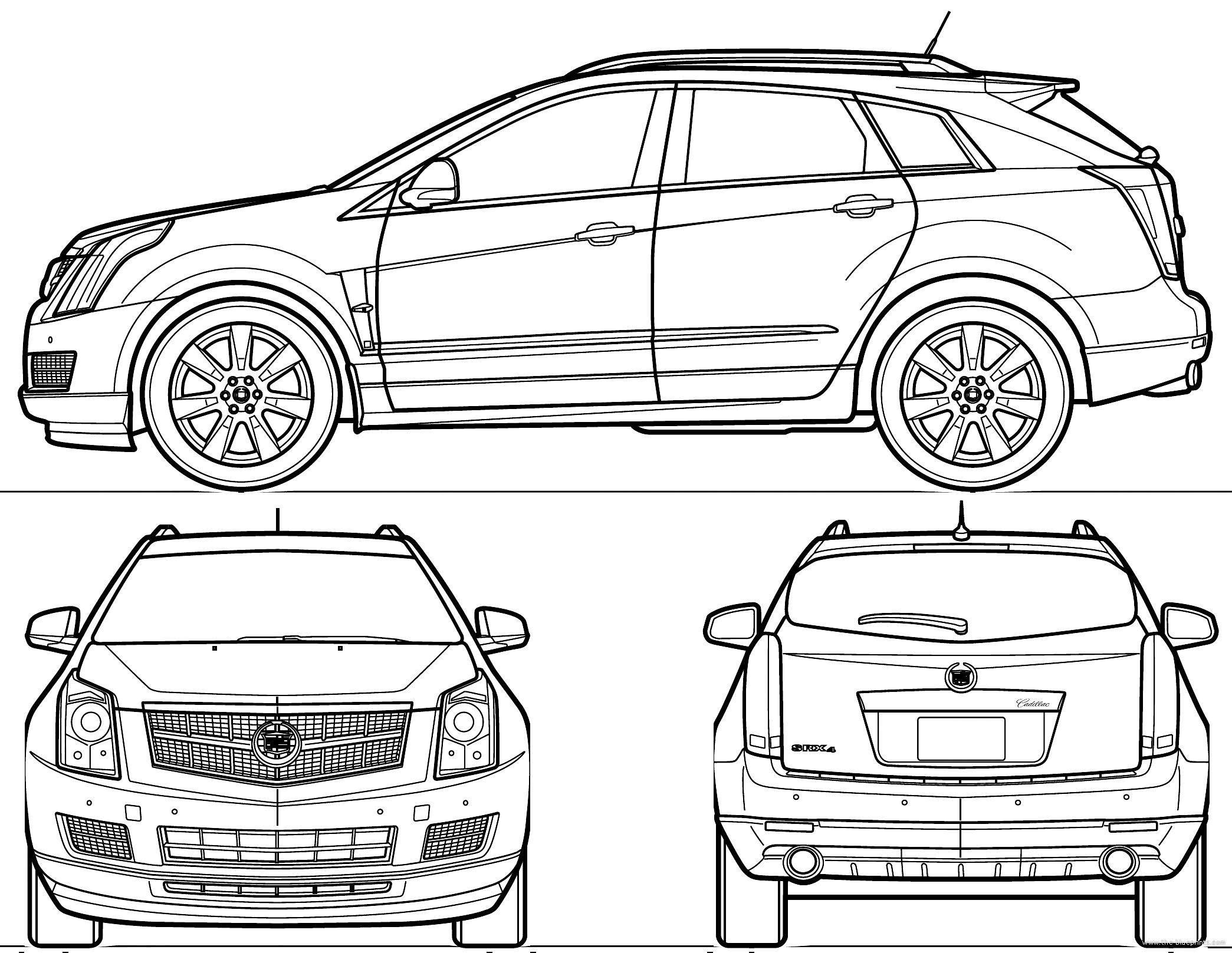 Cadillac Car Coloring Pages : How to draw a cadillac logo