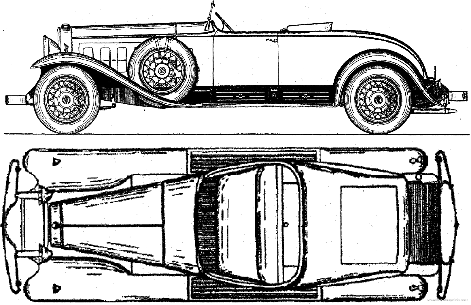 cadillac blueprints
