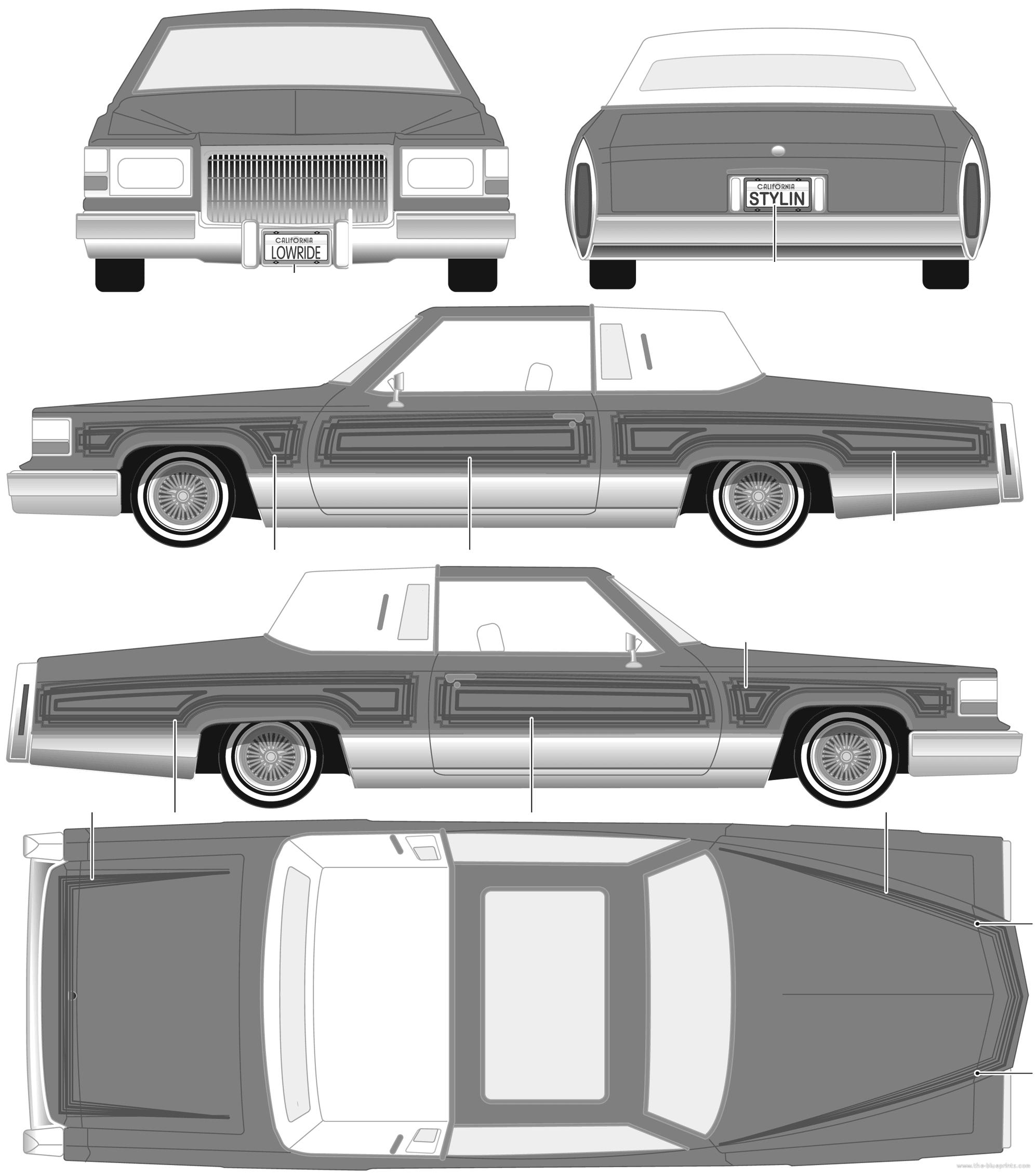 The blueprints cars cadillac custom for Custom blueprints