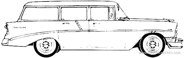 The blueprints cars chevrolet for 1956 chevy wagon 4 door