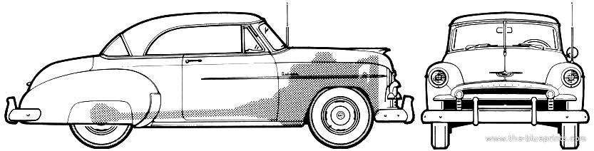 The blueprints cars chevrolet for 1950 chevrolet 2 door hardtop