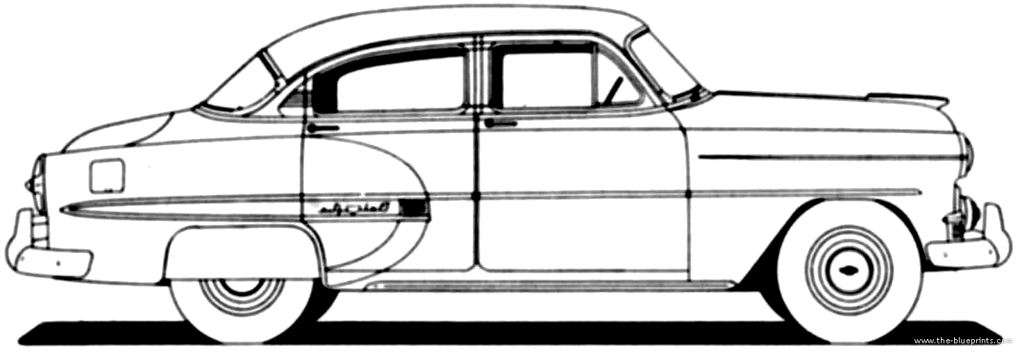 The blueprints cars chevrolet for 1953 chevrolet belair 4 door