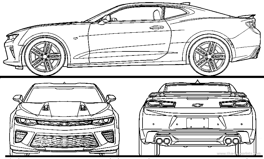 Blueprints > Cars > Chevrolet > Chevrolet Camaro (2016)