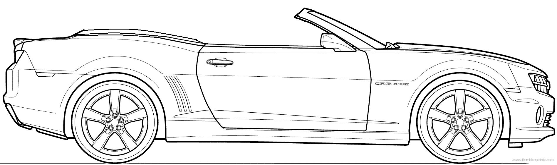 Convertible coloring pages ~ The-Blueprints.com - Blueprints > Cars > Chevrolet ...