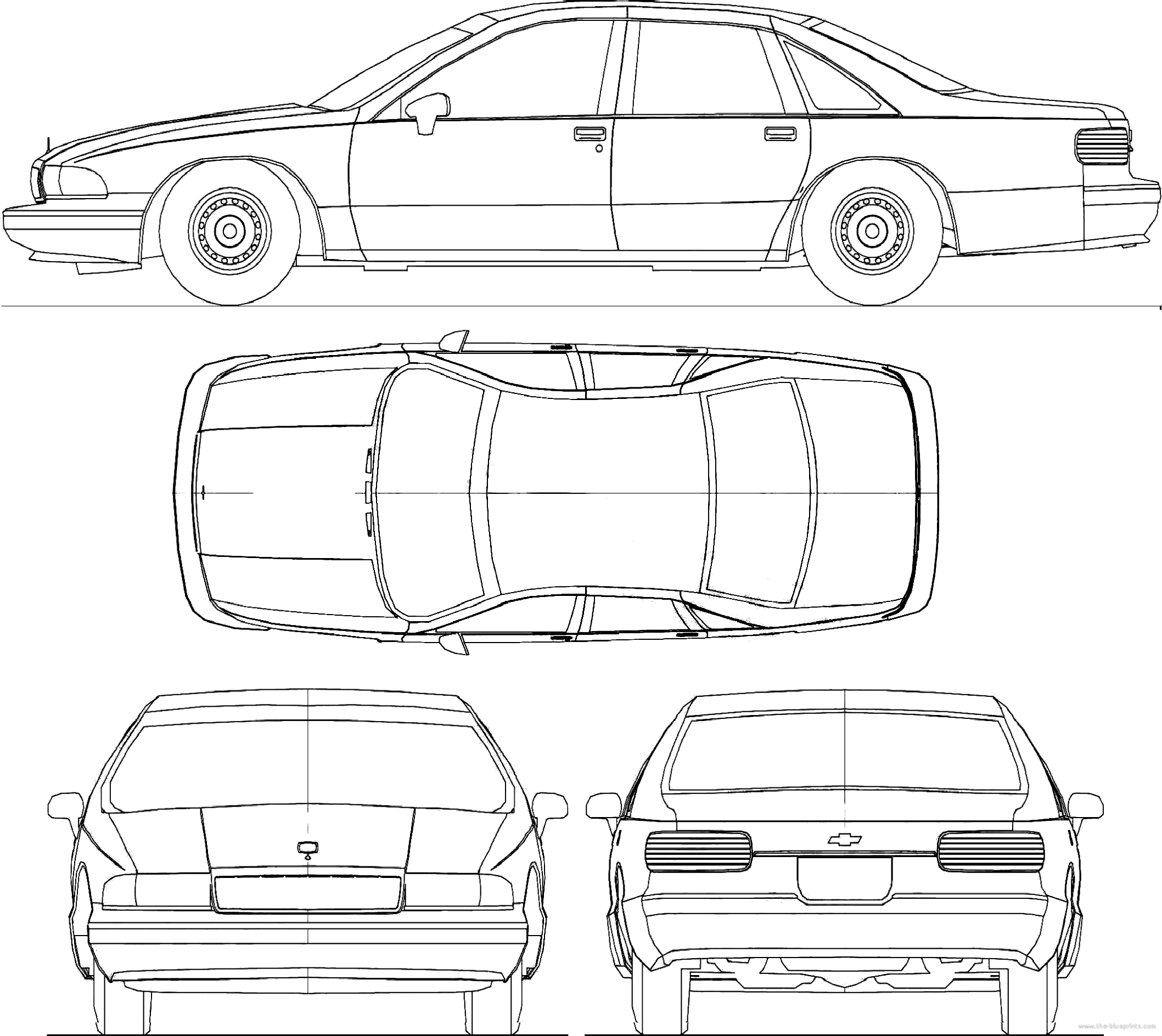 Blueprints Cars Chevrolet