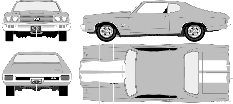 ... com - Blueprints > Cars > Chevrolet > Chevrolet Chevelle SS 454 (1970