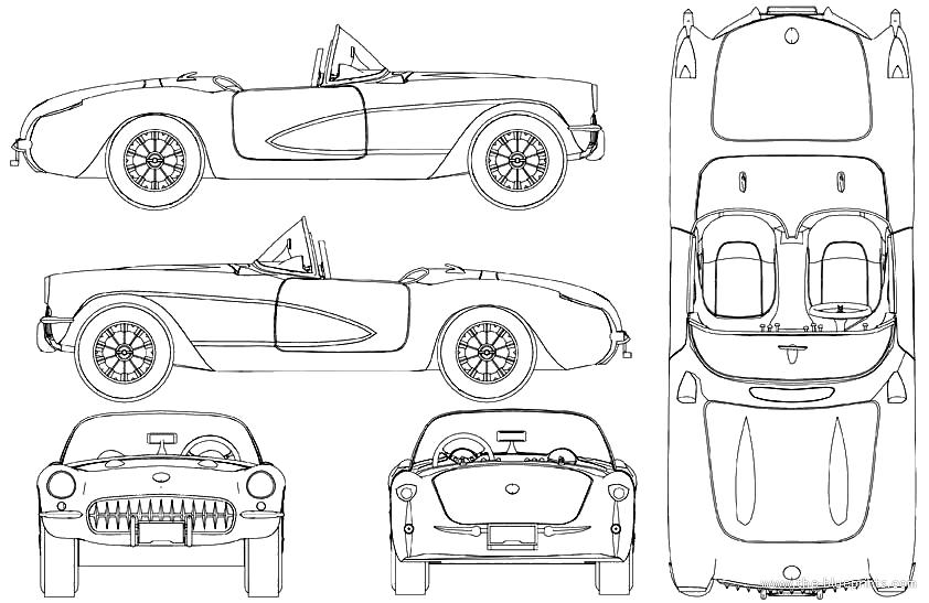 The blueprints blueprints cars chevrolet chevrolet chevrolet corvette 1958 malvernweather Images
