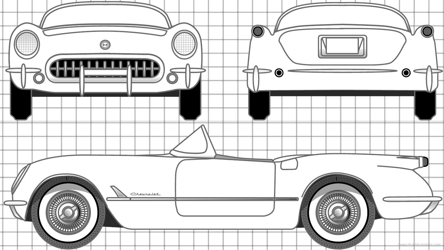 blueprints  u0026gt  cars  u0026gt  chevrolet  u0026gt  chevrolet corvette c1  1953