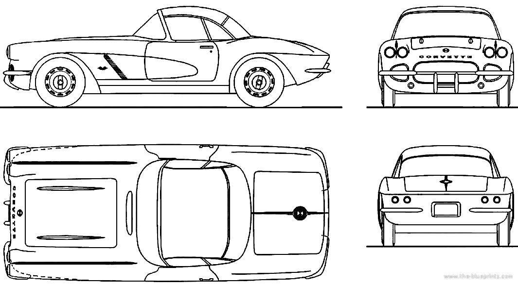 The blueprints blueprints cars chevrolet chevrolet chevrolet corvette c1 1962 malvernweather Images