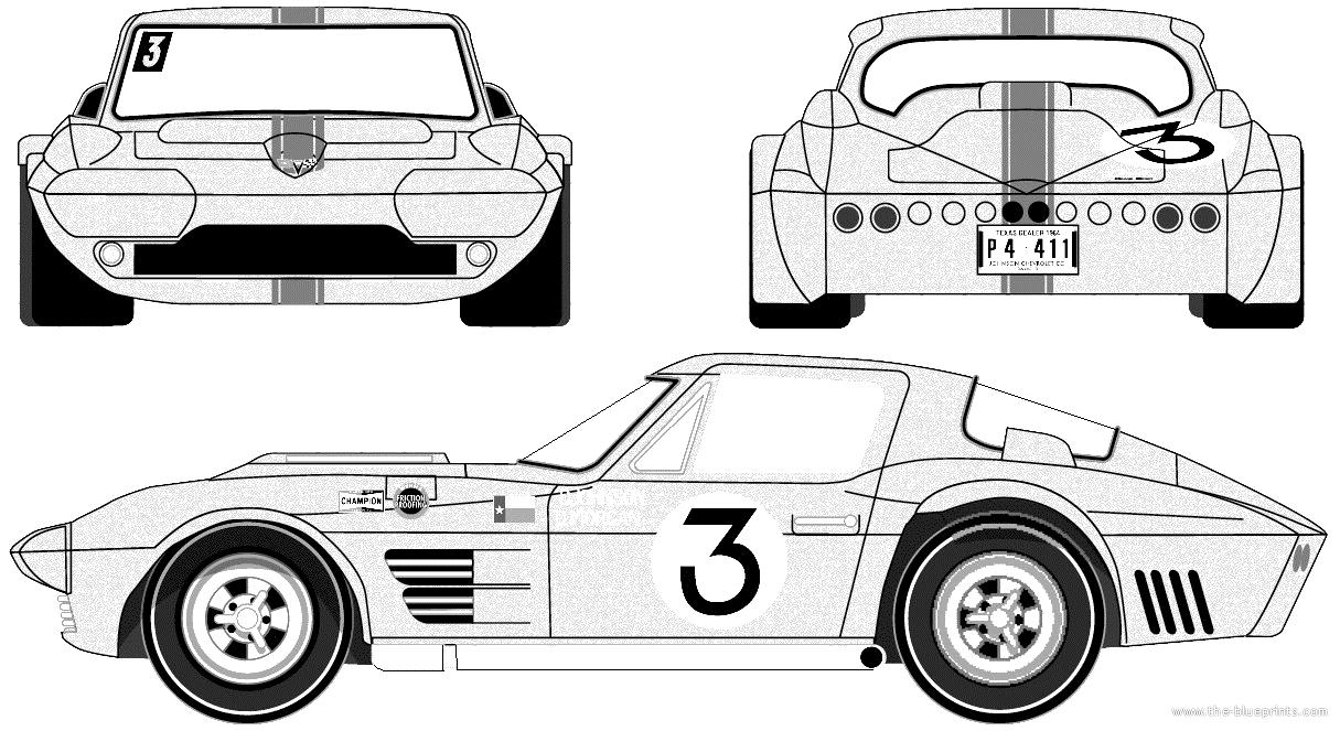 blueprints for corvettes