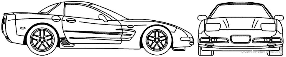 blueprints cars chevrolet chevrolet corvette c5 hardtop z06 2004. Black Bedroom Furniture Sets. Home Design Ideas