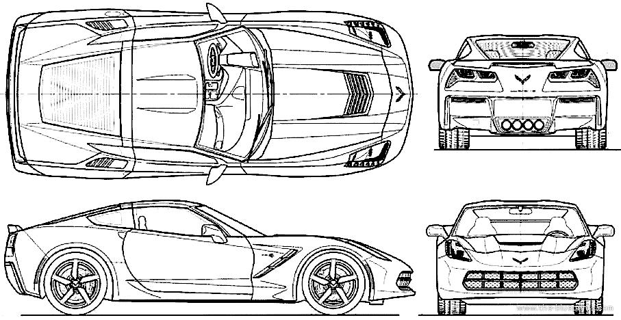 The blueprints blueprints cars chevrolet chevrolet chevrolet corvette c7 stingray 2014 malvernweather Images