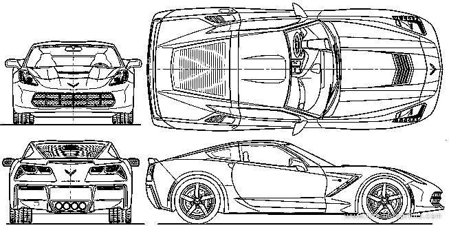 The blueprints blueprints cars chevrolet chevrolet chevrolet corvette c7 stingray 2015 malvernweather Images