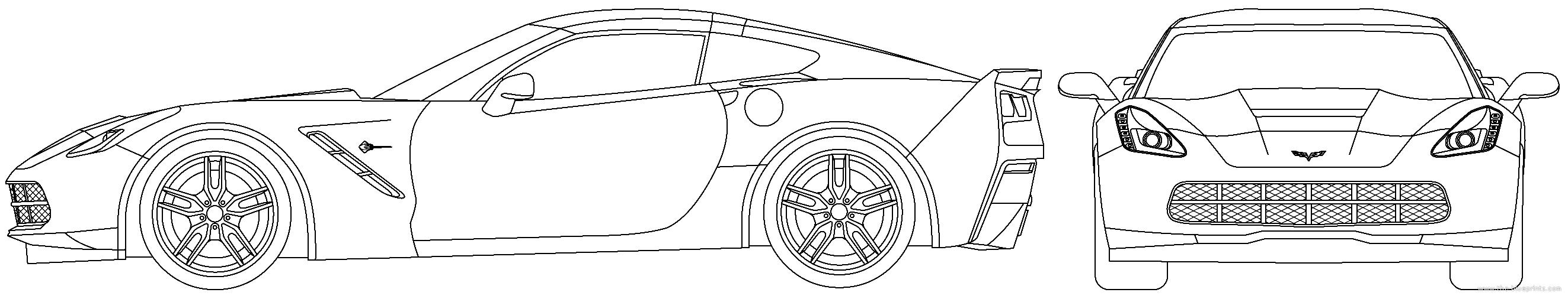 The blueprints blueprints cars chevrolet chevrolet chevrolet corvette c7 stingray 2016 malvernweather Images