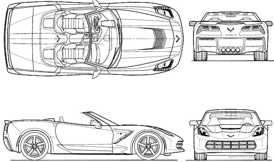 The blueprints blueprints cars chevrolet chevrolet chevrolet corvette c7 stingray convertible 2014 malvernweather Gallery