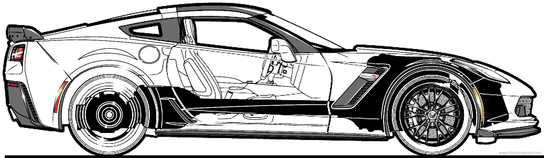 The blueprints blueprints cars chevrolet chevrolet chevrolet corvette c7 zo6 2015 malvernweather Images