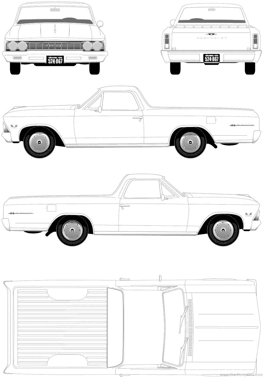 blueprints  u0026gt  cars  u0026gt  chevrolet  u0026gt  chevrolet el camino  1966