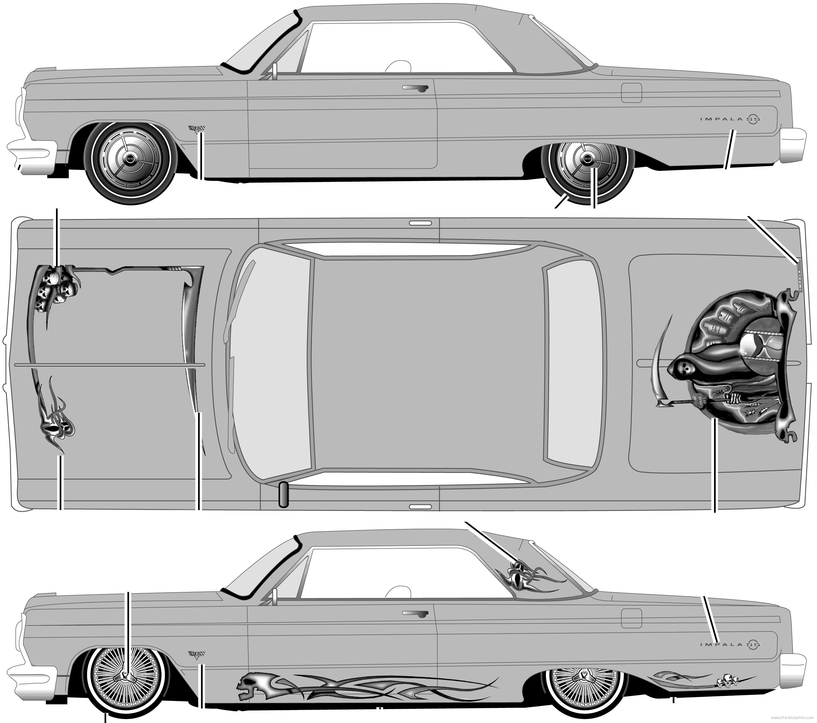 Cool Lowrider Cars Drawings Chevrolet impala lowriderLowrider Chevy Truck Drawings