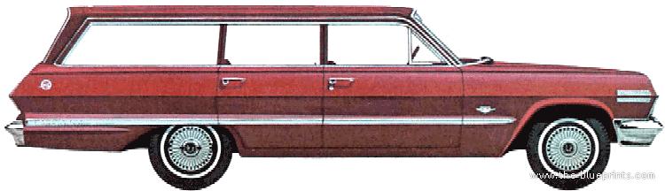 blueprints cars chevrolet chevrolet impala station. Black Bedroom Furniture Sets. Home Design Ideas
