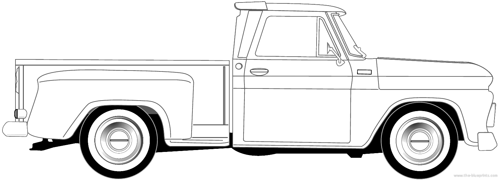 1966 chevy truck bed diagram