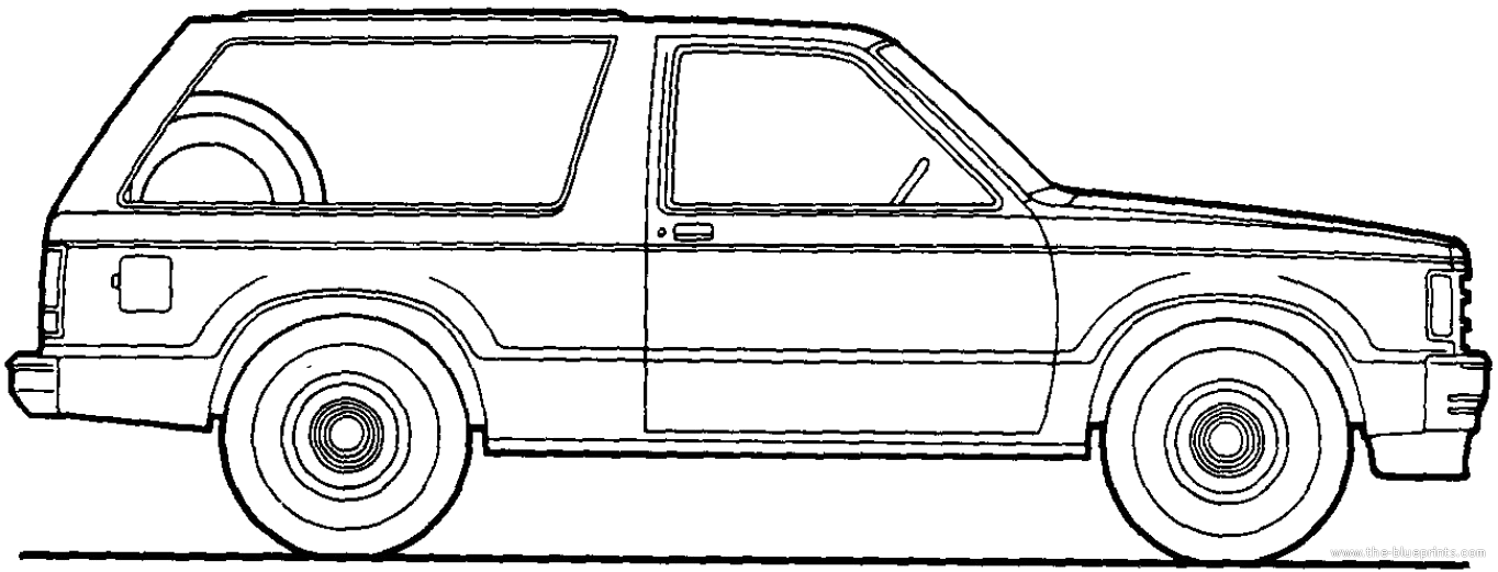 chevy s10 coloring pages