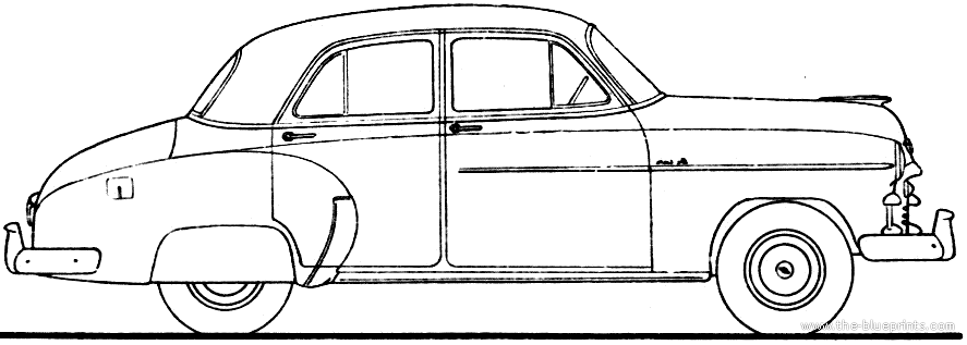 The blueprints cars chevrolet for 1950 chevy styleline deluxe 4 door sedan