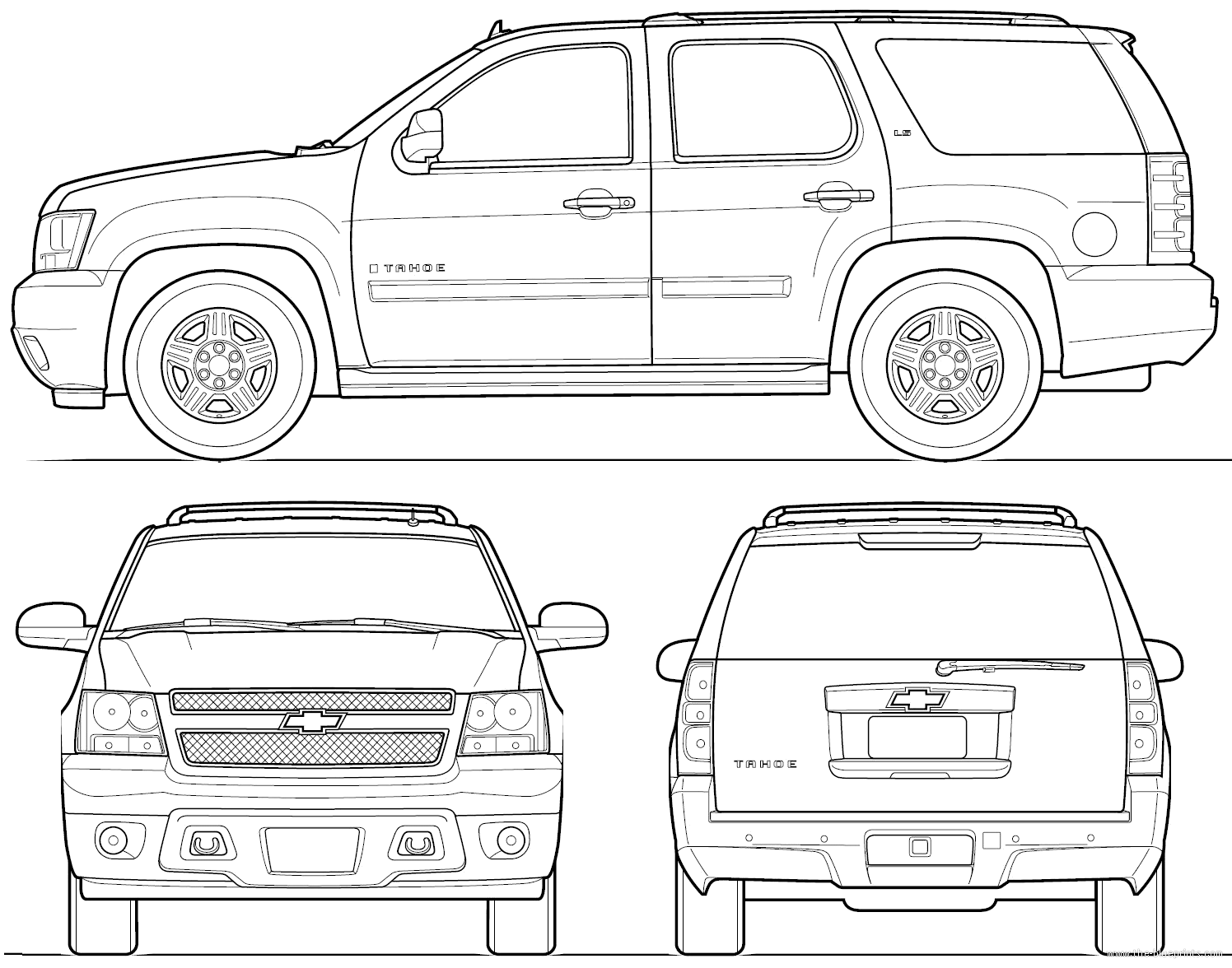 Chevy tahoe drawings for Blueprint sizes