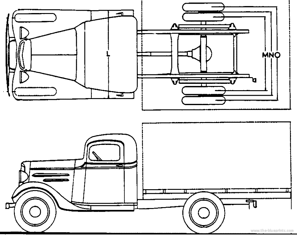 image of chevy truck blueprint 1946 chevrolet pickup