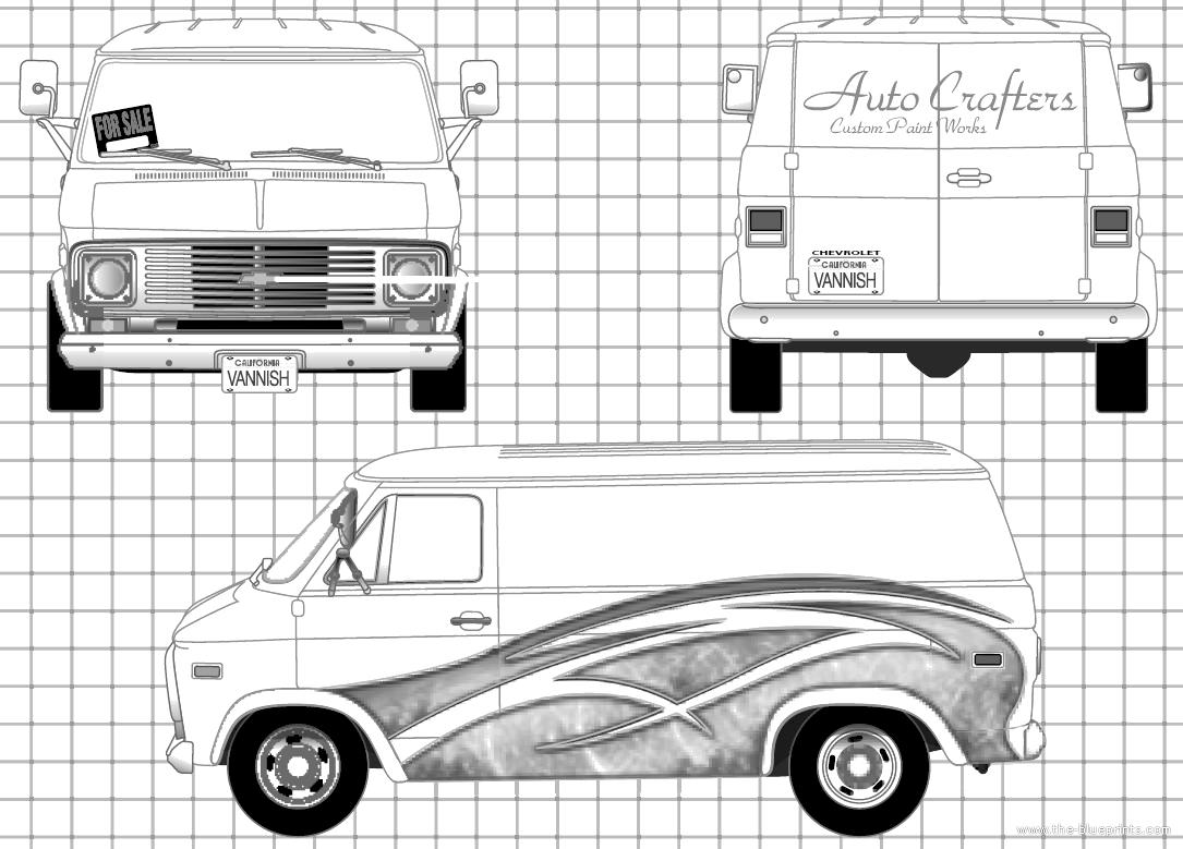 blueprints  u0026gt  cars  u0026gt  chevrolet  u0026gt  chevrolet van  1977