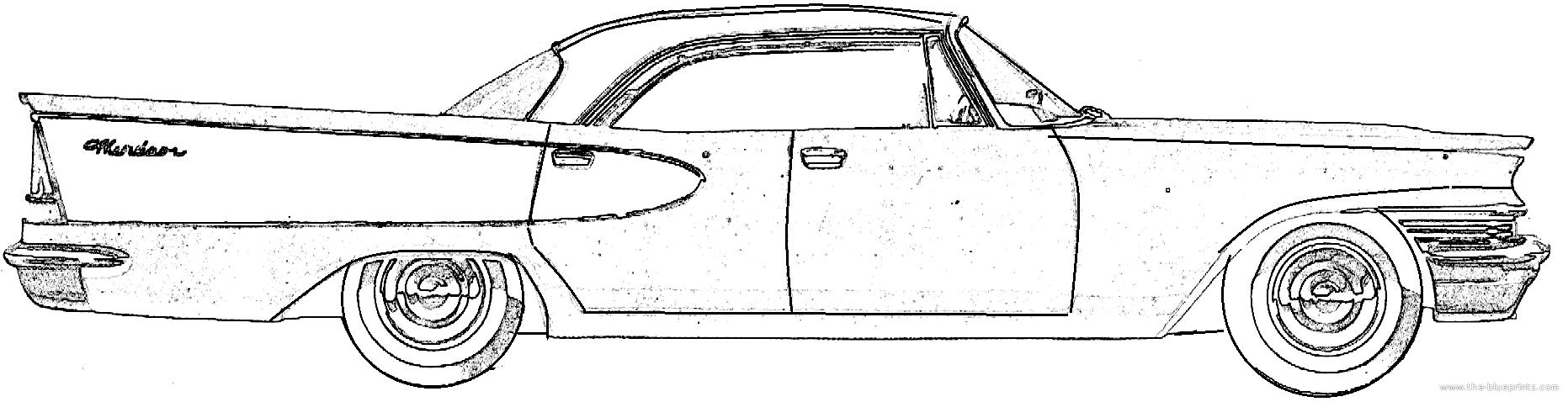 The blueprints cars chrysler for 1957 chrysler windsor 2 door hardtop